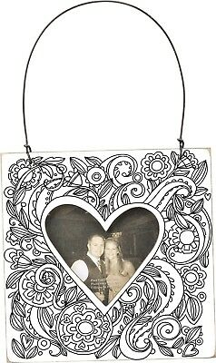 Primitives By Kathy Mini Heart Color Your Own Photo Holder Frame Ornament Hanger](Halloween Your Photo)