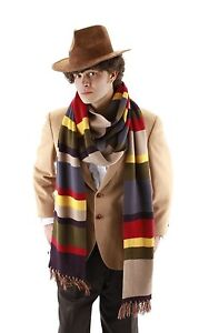 Dr Doctor Who Scarf Licensed Fourth 4th 12' DELUXE Tom Baker Striped