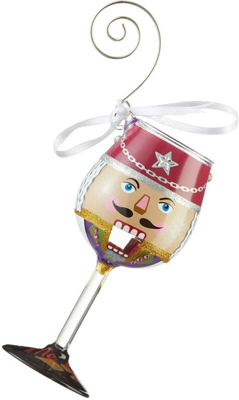 Enesco Designs by Lolita You Crack Me Up Miniature Wine Glass Hanging Ornament