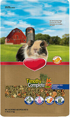 Timothy Hay Complete Plus Fruits And Vegetables Guinea Pig Food, 5-Lb Bag
