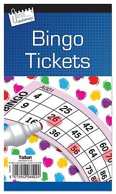 Jumbo Bingo Book Pad of 600 Tickets 6 to view all colours Tallon Brand (D28)