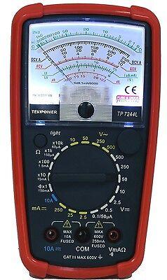 Tekpower 7244l 20-range Decibel Db Ac Dc Analog Meter Multimeter Continuity