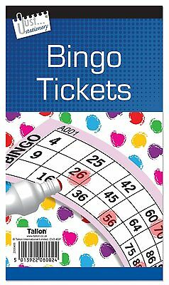 Jumbo Bingo Book Pad 600 Games Coded Tickets 6 to View Various Colours-8002