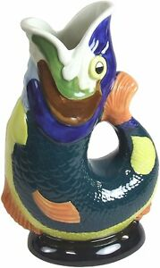 Gluggle Fish Jug Hand Painted ,  #G31157-HP