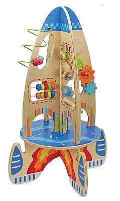 Wooden Activity Rocket Toy
