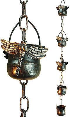 Decorative Iron - Decorative Iron Dragonfly Rain Chain (Original Version)