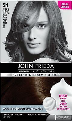 John Frieda Precision Foam Deep Colour Hair Dye Number 5N  Medium Natural Brown