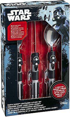 Disney Official Collectables Star Wars Darth Vader Lightsaber Cutlery Set BNIB