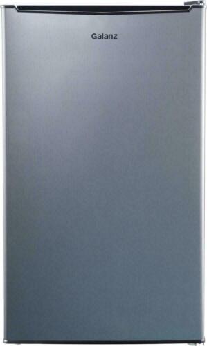 MINI FRIDGE W/ FREEZER Small Compact Refrigerator 3.3 Cu Ft Stainless Steel NEW