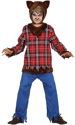 Boys Wolf Tartan Halloween Horror Cute Fancy Dress Costume Outfit 3-12 years ()