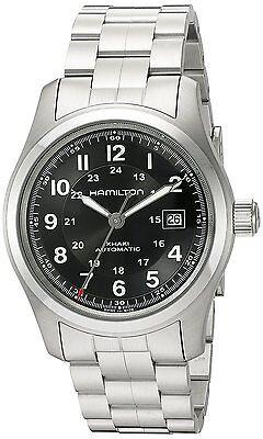Hamilton Mens Khaki Field Automatic Stainless Steel Bracelet Watch H70515137
