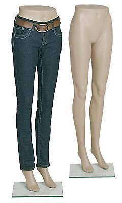 Ssw Female Plastic Mannequin Leg Form 70395 Half Body Mannequin Wglass Base