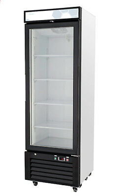 Migali C-12rm-hc Single Glass Door Merchandiser Refrigerator Free Shipping