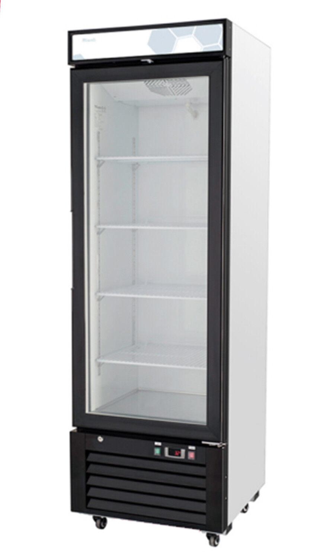 Migali C-12RM Single Glass Door Merchandiser Refrigerator ON