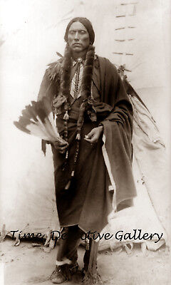 Comanche Chief, Quanah Parker - circa 1910 - Historic Photo Print for sale  Watertown