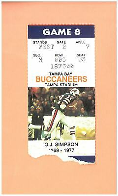 Buffalo Bills @ Tampa Bay Buccaneers 11-2-1986 NFL ticket O.J. Simpson photo USC