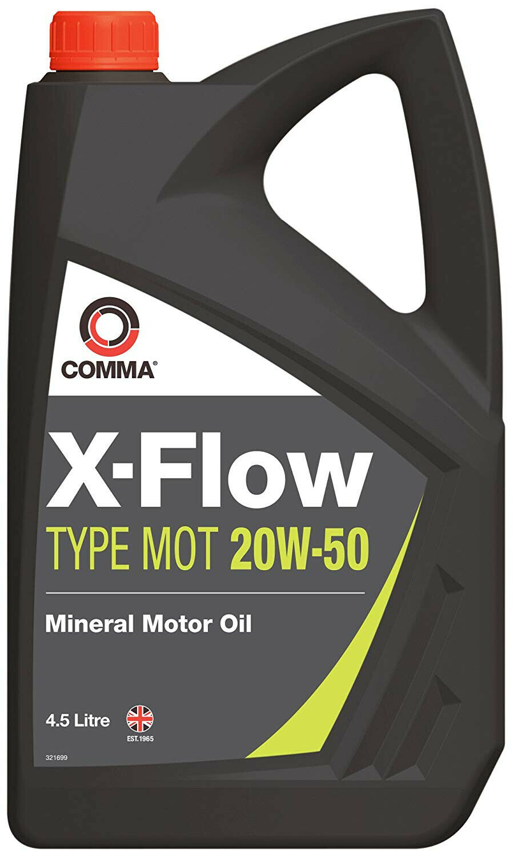 20W50 X-FLOW TYPE MOT Mineral Engine Motor Oil Car Van 4.54 Litre 4.54L 20W 50