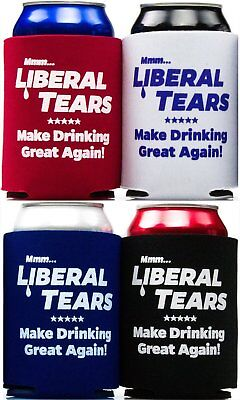 America Firsts Mmm..Liberal Tears: Make Drinking Great Again Beer Can Covers x 4