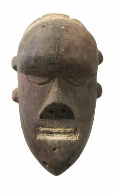 Mask Pasport African Salampasu DRC Wood 14cm Miniature Art First 16688