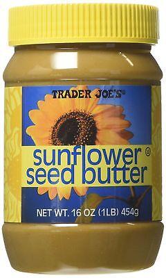 TRADER JOE'S SUNFLOWER SEED BUTTER NET 16 OZ KOSHER FREE EXPEDITED SHIPPING Sunflower Seed Butter