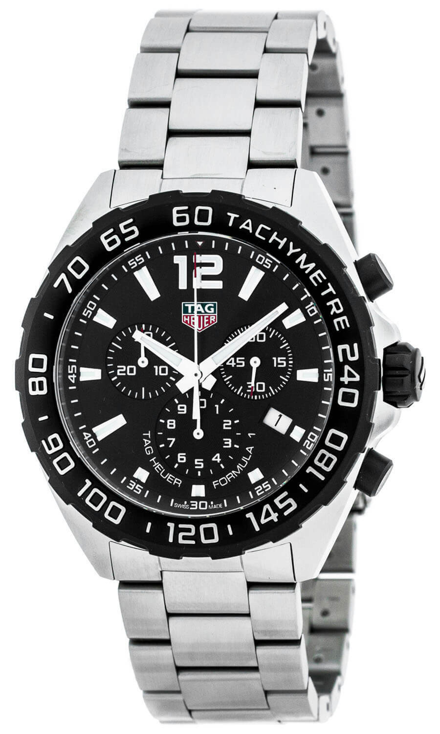 Tag Heuer Formula 1 Chronograph Black Dial 3 Row Links Men Watch CAZ1010.BA0842 - watch picture 1