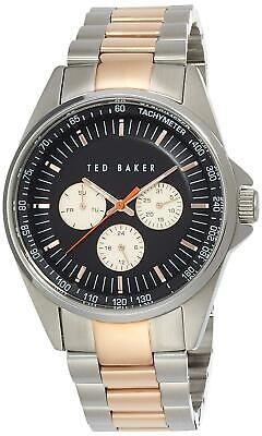 Ted Baker Men's TE3051 Round Two-Tone Stainless Steel Watch 45mm RRP £237.50