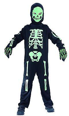 Skelett Kostüm Kinder Jungen grün-schwarz - Halloween Kostüm  087574