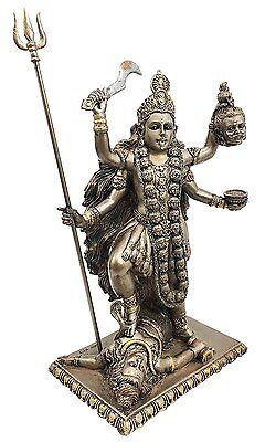 Goddess Kali Destroyer Statue Time Death Eastern Enlightenment Figurine