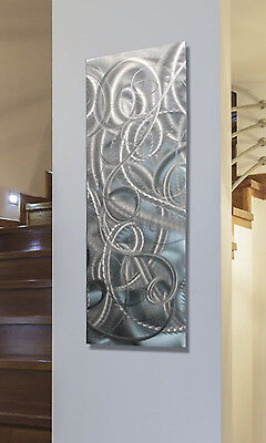 Statements2000 Metal Wall Art Abstract Silver Accent Panel by Jon Allen Delight