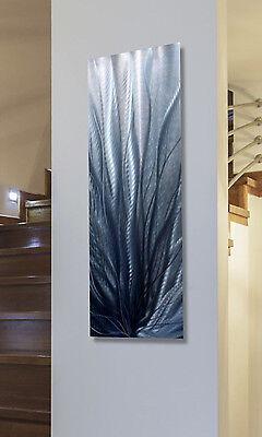 Metal Abstract Modern Painting Wall Art  Sculpture - Steel Blue 2 by Jon Allen