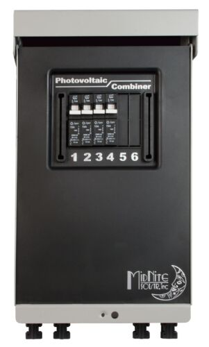MidNite Solar MNPV4-MC4-LV Pre-Wired Combiner 3R with four 15A Circuit Breakers