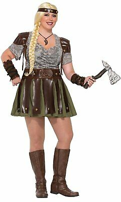 Name Of Halloween Costumes (Viking Warrior Woman Full Figure Adult Costume - Vikings / Game of)