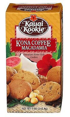 - KAUAI KOOKIE Hawaiian Kona coffee macadamia nut shortbread cookies