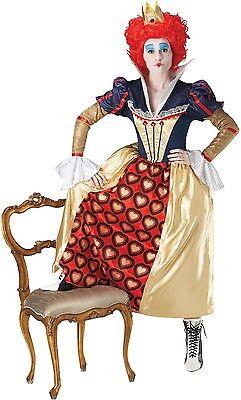 Disney Offizielle Kostüme (Damen Offiziell Königin der Herzen Iracebeth Disney Kostüm Kleid Outfit 8-18)