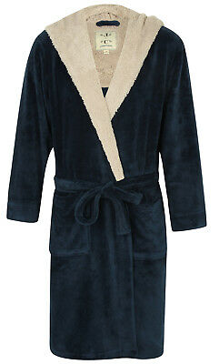 (Men's Super Soft Hooded Robe, Blue Marl (sizes available))