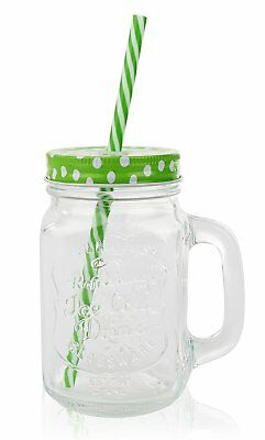 Mason Jars Mugs with Both Solid Lids and Lids/Plastic Straws - 16 Oz  - 12 JARS](Mason Jars With Lids And Straws)