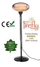 Firefly Garden Outdoor Quartz 2KW Electric Patio Heater Free Standing Infrared