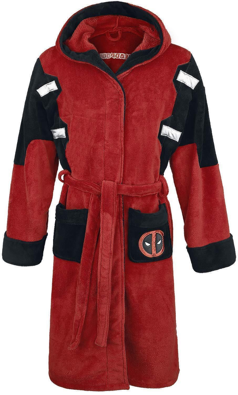 Marvel Comics Deadpool Mens Luxurious Soft Dressing Gown Bathrobe ... ba2f64a6e