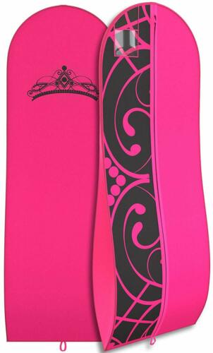 "Gown Garment Bag for Women Bridal Dresses Folding Loop ID 72""x 24"" Tiara"