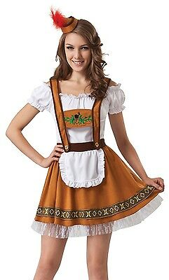 Ladies Sexy German Beer Girl Oktoberfest Festival Fancy Dress Costume Outfit - German Girl Outfits