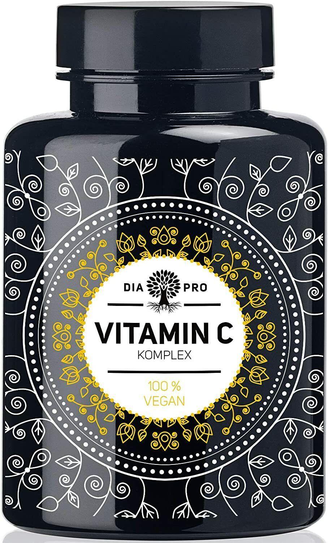 Natürliches Vitamin C Komplex hochdosiert aus Acerola Hagebutte Camu Camu Extrak