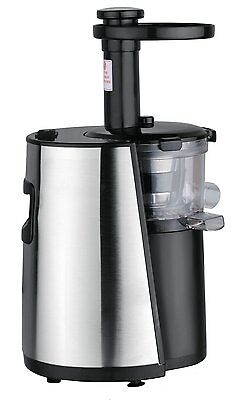 Chefs Star Slow Masticating Juicer - Stainless Steel Black