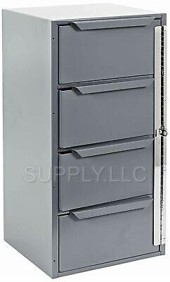 Metal Storage 4 Bins Locking Drawer Cabinet Part Nut Bolts Fastener Screws Truck