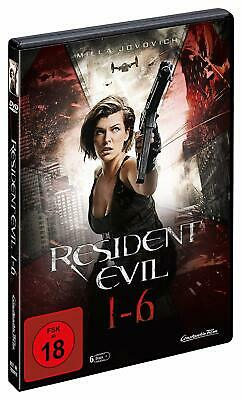 RESIDENT EVIL Complete Uncut Collection Teil 1 2 3 4 5 6 DVD BOX Milla Jovovich  ()