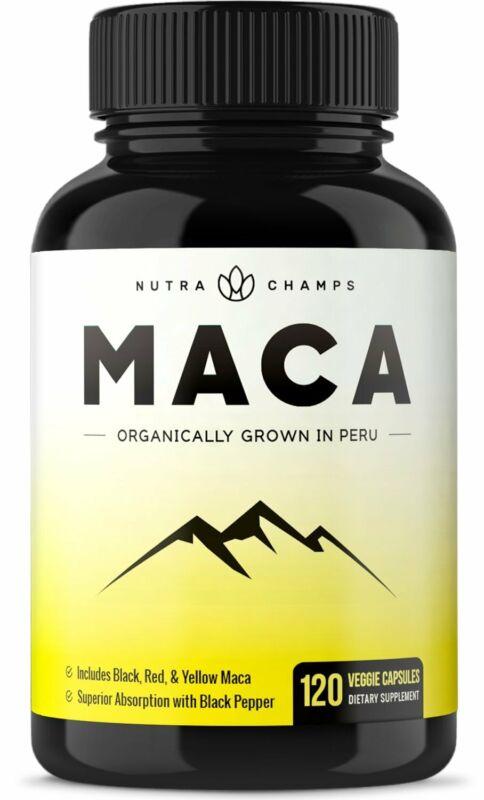 Organic Maca Root Powder Capsules - 1000Mg Peru Grown - Ener
