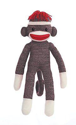 Plushland Sock Monkey Plush Stuffed Animals Kids Toys Adorable Birthday Gifts - Sock Monkey Birthday