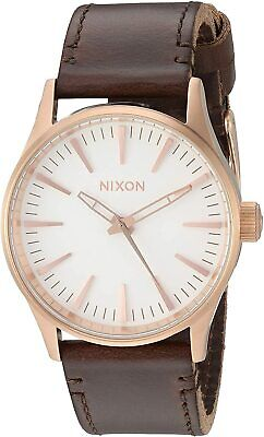 Nixon Men's Sentry 38 A3772630-00 38mm White Dial Leather Watch