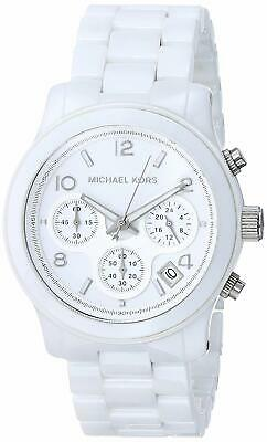 MICHAEL KORS MK5161 Runway Ceramic Chronometer White Watch for Women