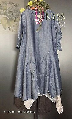KRISS TUNIC DRESS TG-A7132 New  Sewing Pattern by Tina Givens- Lagenlook Style!