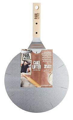 Paul Hollywood Kitchen Craft Stainless Steel Cake Lifter with Cutting Guide 25cm